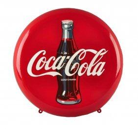 German Coca - Cola Porcelain Button Sign.