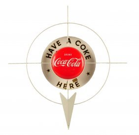 1950's Coca - Cola Grocery Store Display Sign.