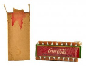 1920's Coca - Cola Golf Tee Set.