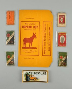 Lot Of 8: Assorted Tobacco Related Pieces.
