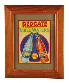 Redgate Table Waters Embossed Cardboard Sign.