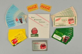 Lot Of Approx. 50: Coca - Cola Free Drink Coupons.
