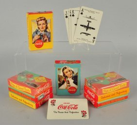 Lot Of 8: Assorted Coca - Cola Card Decks.