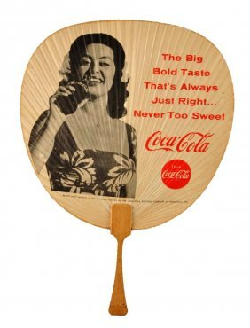1963 Coca - Cola Hand Fan.