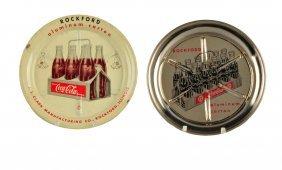Pair Of 1950's Coca - Cola Coasters.