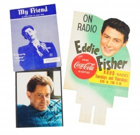 Lot Of 3: Coca - Cola Eddie Fisher Items.