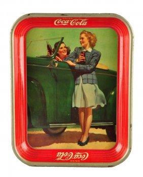 1942 Coca - Cola Serving Tray.