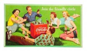 1954 Coca - Cola Cardboard Poster.