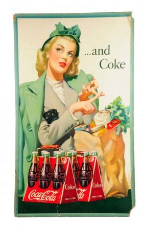 1946 Large Vertical Coca - Cola Poster.