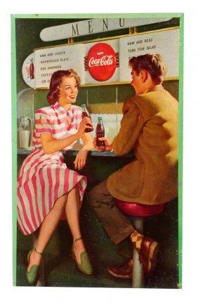 1948 Coca - Cola Cardboard Poster.