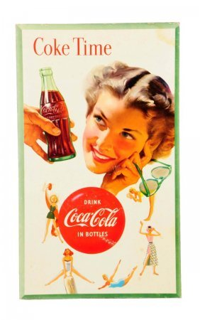 1955 Two Sided Coca - Cola Poster.