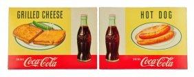 Lot Of 2: 1957 Coca - Cola Cardboard Menu Signs.