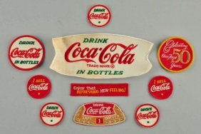 Lot Of 10: Assorted Coca - Cola Cloth Patches.