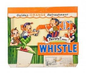 1948 Whistle Cardboard Dimensional Display.