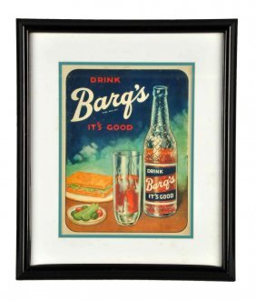 1950's Barq's Celluloid Sign.