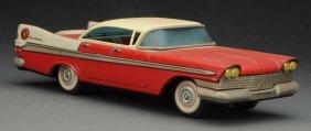 Japanese Tin Litho Friction 1959 Plymouth Hardtop.