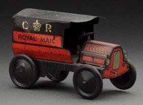 English Tin Litho Royal Mail Van.