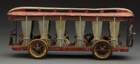 Early French Street Trolley Pulltoy.