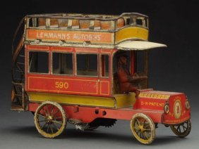 German Tin Litho Lehmann Autobus Toy.