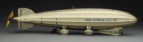 German Tin Litho Wind-up Tippco Graf Zeppelin Toy.