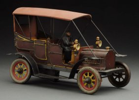 Early German Tin Litho Wind-up Carette Car.