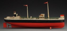 German Wind-up Fleischmann Oil Tanker Boat.