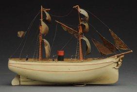 Early German Schooner Sailing Ship.