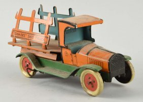 Chein Tin Litho Wind Up Dan - Dee Skid Truck .