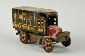 Marx Tin Litho Wind-up Armored Truck.