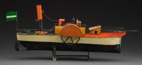 Contemporary Side-wheeler Riverboat Toy.