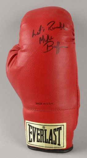 Autographed Everlast Michael Buffer Boxing Glove.