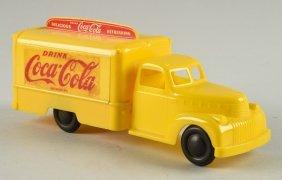 Marx Yellow Plastic Coca-cola Truck Chevrolet.