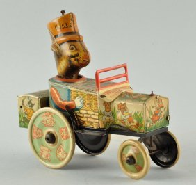 Marx Tin Litho Wind-up Uncle Wiggly Whoopie Car.