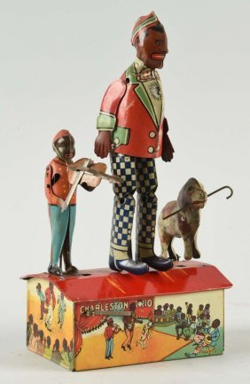 Marx Tin Litho Wind-up Charleston Trio Toy.
