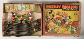 English Wells Walt Disney Mickey & Donald Handcar.