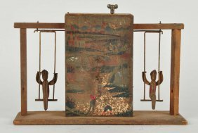 Very Early Pre War Japanese Double Swing Toy.