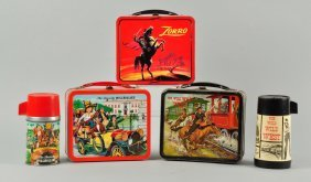 Lot Of 3: Assorted Lunch Box With Thermos.