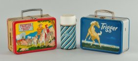 Lot Of 2: Pony Express & Trigger Lunch Boxes.