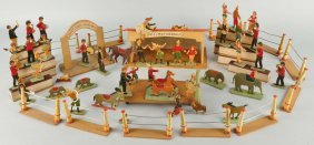 Early Wooden French Circus Set.
