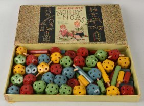 Unusual Schoenhut Nobby Nobs Children's Play Toy.