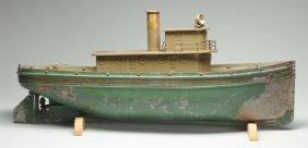 Rare Pressed Steel Buddy L Tug Boat.