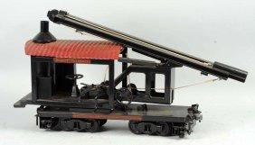 Pressed Steel Buddy L Railroad Pile Driver Car.