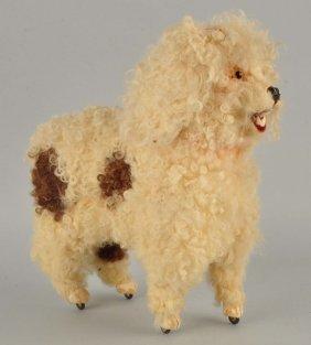 Larger Woolen Poodle On Wheels.