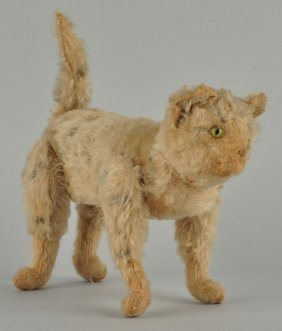 Steiff's Very Early Fully Jointed Cat With Id.
