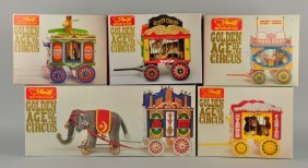 Set Of 5: German Steiff Contemporary Circus Train.
