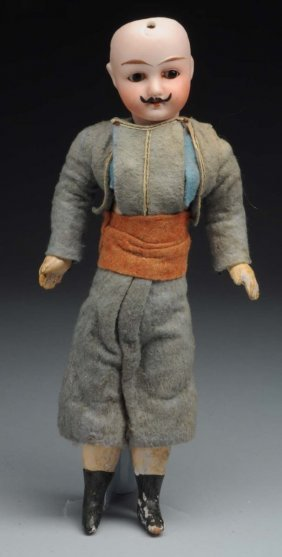 German Bisque Man Character Doll.