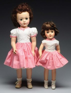 Pair Of Vintage Hard Plastic Mary Hoyer Gigi Dolls