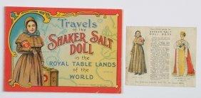 "Uncut 1911 Book ""travels Of The Shaker Salt Doll""."