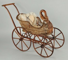 Goose Wicker Doll Buggy.