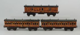 Lot Of 3: Gauge 1 Marklin For Gamages Coaches.